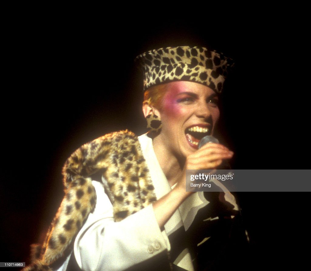 Annie Lennox of Eurythmics during Eurythmics in Concert at Los Angeles' Wilshire Theatre - April 25, 1984 at Wilshire Theatre in Los Angeles, California, United States.