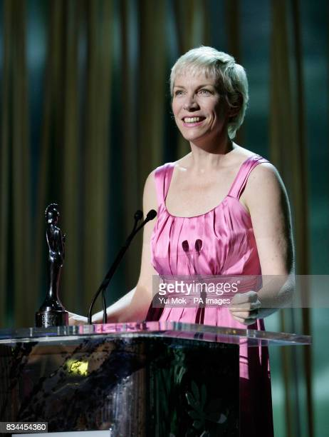 Annie Lennox on stage during the Classical Brit Awards 2008 held at the Royal Albert Hall in west London