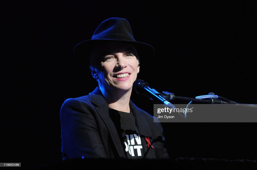 Annie Lennox performs during the 'Women Of The World: Equals' live concert to celebrate the 100th anniversary of International Women's Day at the Royal Festival Hall on March 11, 2011 in London, England.