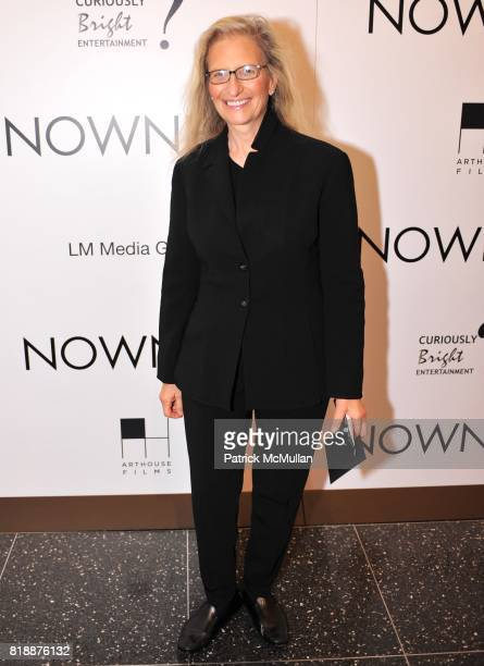 Annie Liebovitz attends NOWNESS Presents the New York Premiere of JeanMichel Basquiat The Radiant Child at MoMa on April 27 2010 in New York City