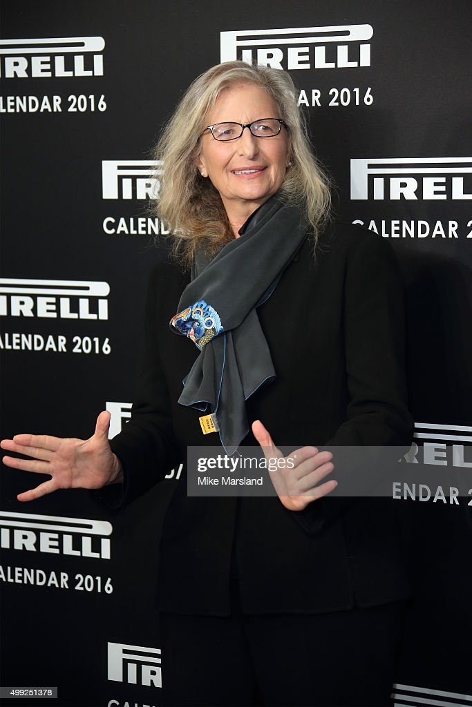Annie Liebovitz Photocall to launch the 2016 Pirelli Calendar by <a gi-track='captionPersonalityLinkClicked' href=/galleries/search?phrase=Annie+Leibovitz&family=editorial&specificpeople=549168 ng-click='$event.stopPropagation()'>Annie Leibovitz</a> at Grosvenor House, on November 30, 2015 in London, England.
