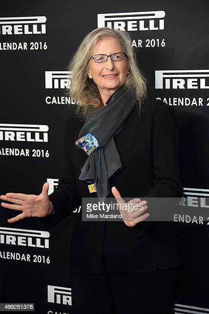 Annie Liebovitz Photocall to launch the 2016 Pirelli Calendar by Annie Leibovitz at Grosvenor House on November 30 2015 in London England