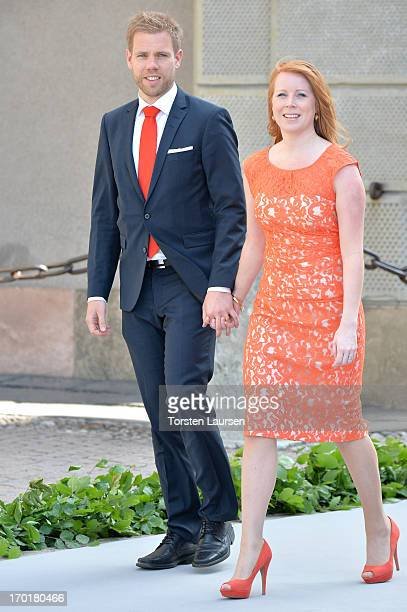 Annie Loof attends the wedding of Princess Madeleine of Sweden and Christopher O'Neill hosted by King Carl Gustaf XIV and Queen Silvia at The Royal...