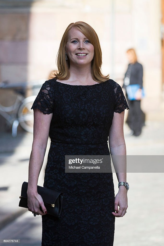 Annie Loof of the Centre party attends a ceremony at Storkyrkan in connection with the opening session of the Swedish parliament on September 13, 2016 in Stockholm, Sweden.