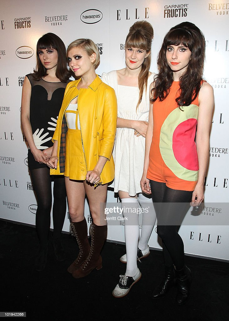 Annie Monroe, Z Berg, Tennessee Thomas, and Laena Geronimo of The Like attend Elle's Women In Music Issue celebration at the Highline Ballroom on June 9, 2010 in New York City.