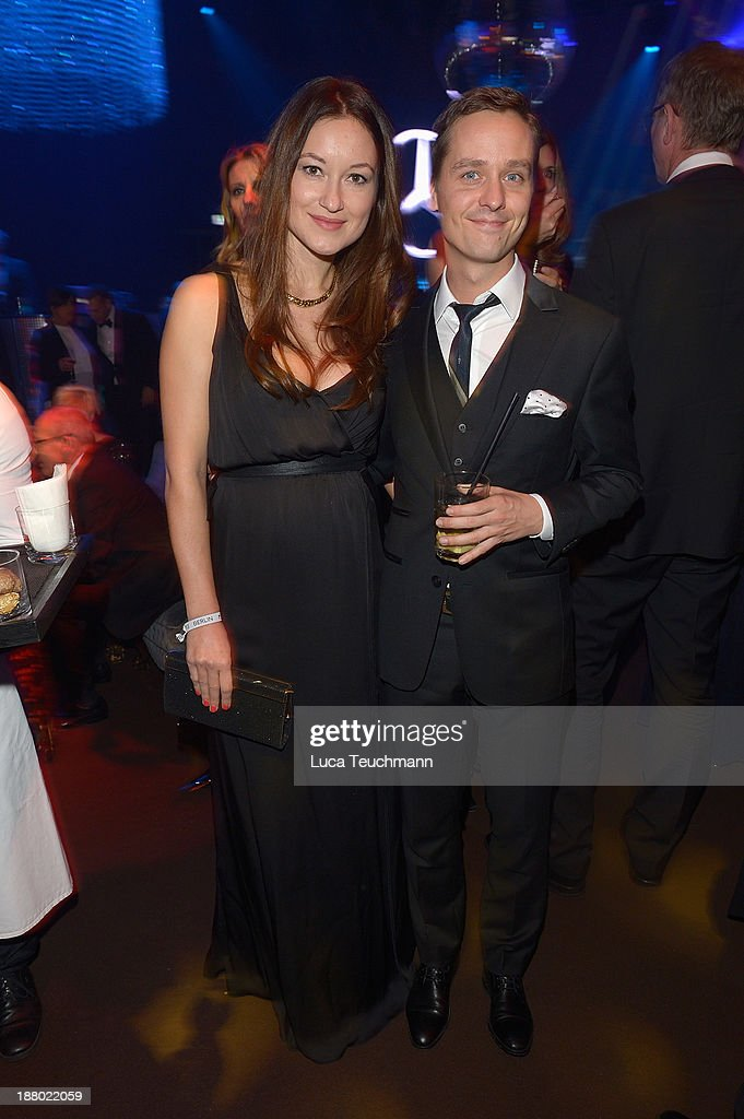 Annie Mosebach and <a gi-track='captionPersonalityLinkClicked' href=/galleries/search?phrase=Tom+Schilling&family=editorial&specificpeople=235897 ng-click='$event.stopPropagation()'>Tom Schilling</a> attend the Bambi Awards 2013 After Show Party at Stage Theater on November 14, 2013 in Berlin, Germany.