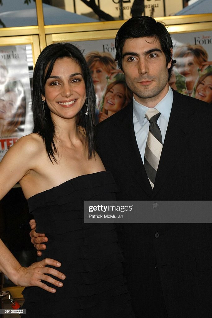 Annie Parisse and brother attend MonsterInLaw Los Angeles Premiere at Mann National Theatre on April 29 2005 in Los Angeles California