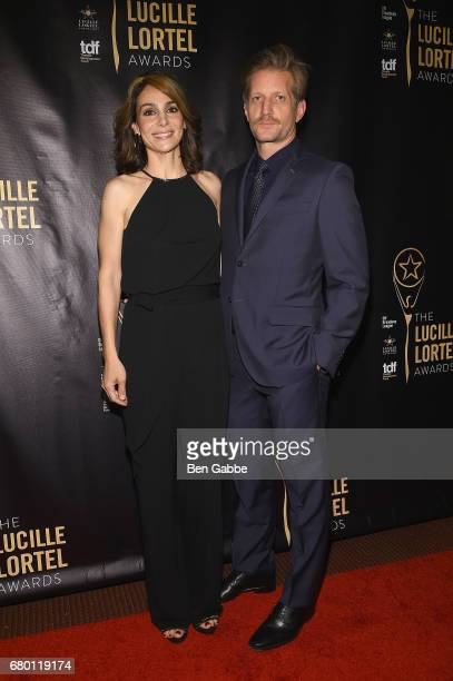 Annie Parisse and Paul Sparks attend 32nd Annual Lucille Lortel Awards at NYU Skirball Center on May 7 2017 in New York City