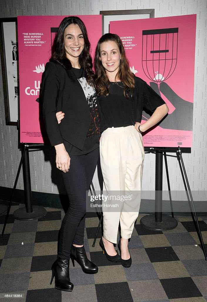 Annie Parisse and Sophia Takal attend 'Wild Canaries' New York Premiere at IFC Center on February 25, 2015 in New York City.