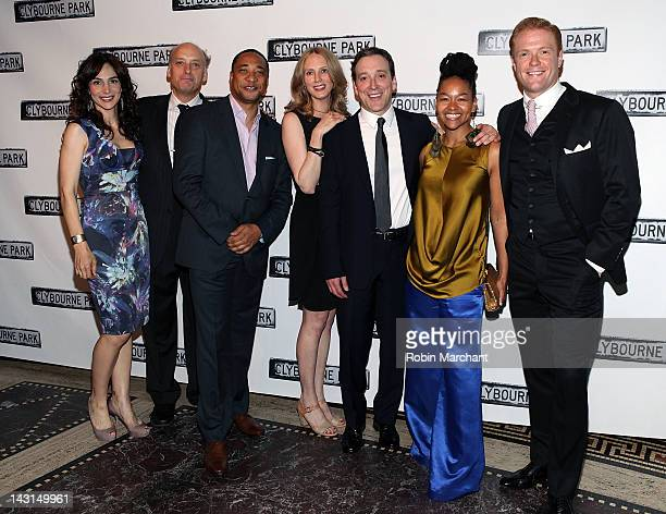 Annie Parisse Frank Wood Damon Gupton Christina Kirk Jeremy Shamos Crystal A Dickinson and Brendan Griffin attend the after party for the 'Clybourne...