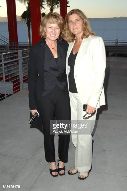 Annie Philbin and Cynthia Wornham attend 'John Baldessari Pure Beauty' at LACMA at Los Angeles County Museum of Art on June 23 2010 in Los Angeles...