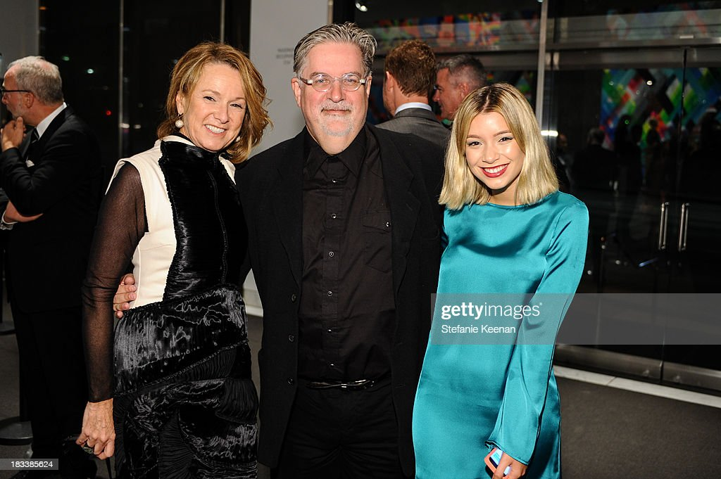 Annie Philbin, Matt Groening and Camila Costantini attend Hammer Museum 11th Annual Gala In The Garden With Generous Support From Bottega Veneta, October 5, 2013, Los Angeles, CA at Hammer Museum on October 5, 2013 in Westwood, California.