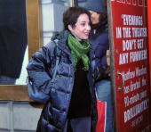 Annie Potts exits the stage doors of 'God of Carnage' at the Jacobs Theatre on January 9 2010 in New York