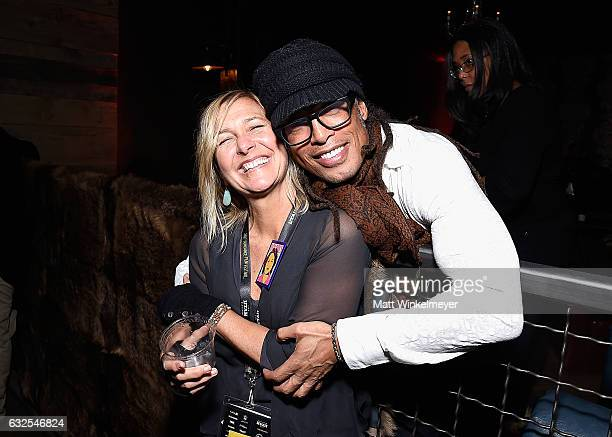 Annie Roney and guest attend the Film Independent International Documentary Association Oovra Music And RO*CO FILMS Sundance Party at OP Rockwell on...