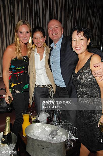 Annie Taube Lottie Oakley Glen Lagerstrom and Elaine Sugimura attend HAVAIANAS and VOGUE host ROSA CHA AfterParty at 1 OAK NYC on September 6 2008 in...
