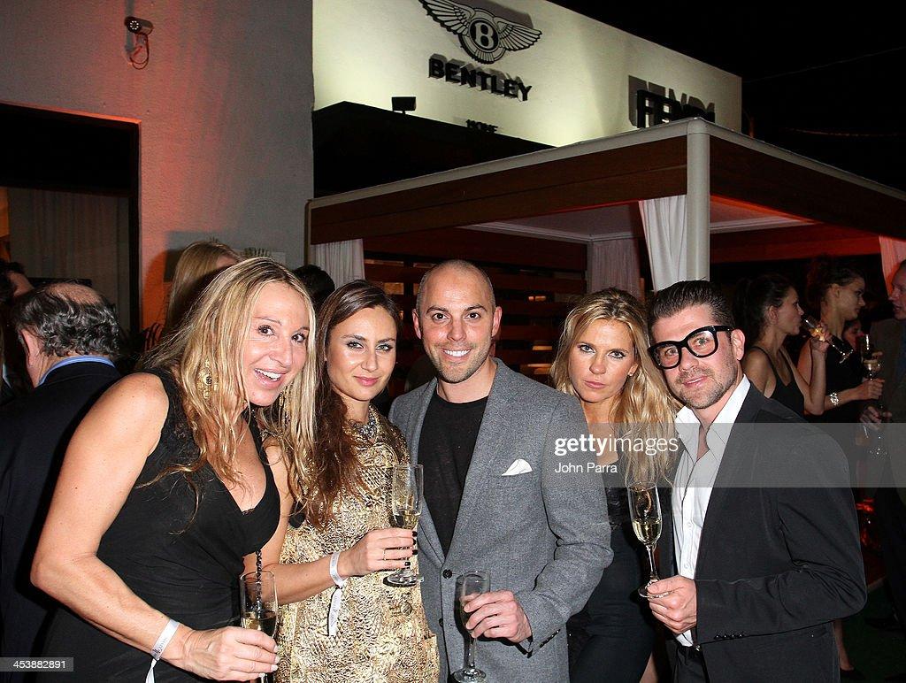Annie Valdivia, Ela Pruszynska, Daniel Valden, Loredana Gugliandolo, and Guido Spinello attend Fendi Casa Art Basel cocktail party on December 5, 2013 in Miami, Florida.