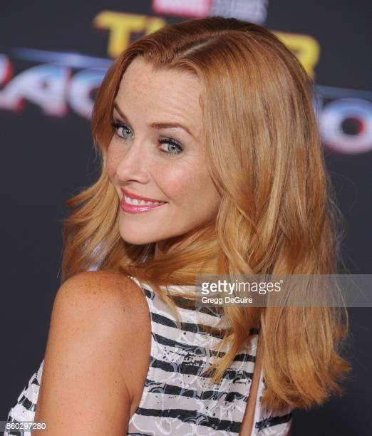 Annie Wersching arrives at the premiere of Disney and Marvel's 'Thor Ragnarok' at the El Capitan Theatre on October 10 2017 in Los Angeles California