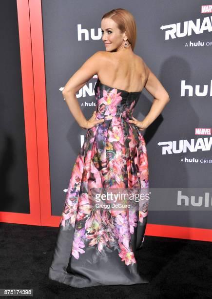 Annie Wersching arrives at the premiere of Hulu's 'Marvel's Runaways' at Regency Bruin Theatre on November 16 2017 in Los Angeles California