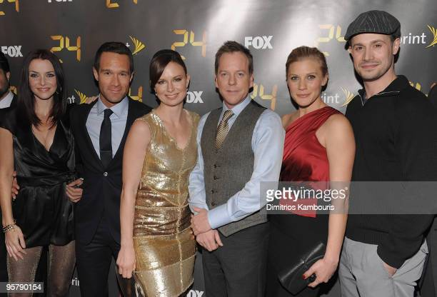 Annie Wersching Chris Diamantopoulos Mary Lynn Rajskub Kiefer Sutherland Katee Sackhoff and Freddie Prinze Jr attend the '24' Season 8 premiere at...