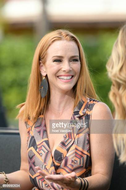 Annie Wersching visits 'Extra' at Universal Studios Hollywood on April 18 2017 in Universal City California