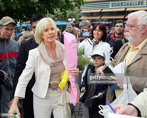 AnniFrid Synni Lyngstad of the legendary ABBA group arrives to the Polar Prize Musical award in Stockholm 24 May 2004 The Polar Prize in Music was...