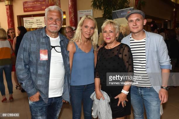 Annik Wecker and her parents Reinhard Berlin Hedda Berlin and her brother Monty Berlin during Konstantin Wecker's 70th birthday at Circus Krone on...