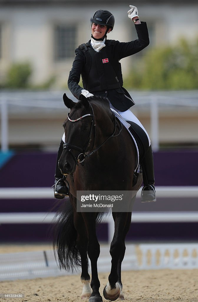 Annika Dalskov of Demark rides Aros A Fenris to Bronze during the Equestrian Dressage Individual Freestyle Test - Grade III on day 6 of the London 2012 Paralympic Games at Greenwich Park on September 4, 2012 in London, England.