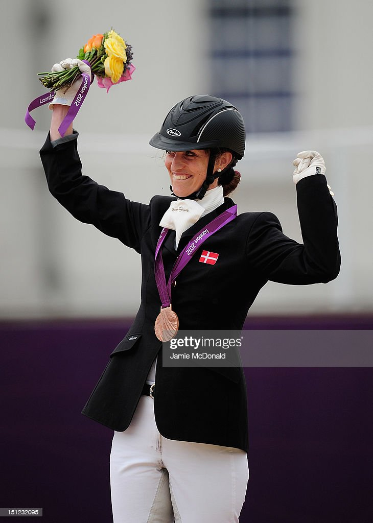 Annika Dalskov of Demark wins Bronze during the Equestrian Dressage Individual Freestyle Test - Grade III on day 6 of the London 2012 Paralympic Games at Greenwich Park on September 4, 2012 in London, England.