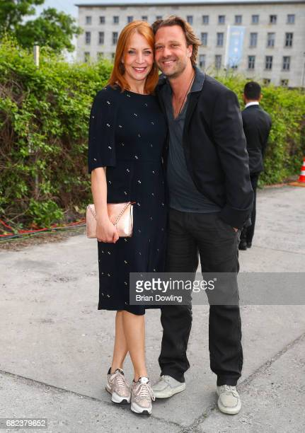 Annika Ernst and her husband arrive at the GreenTec Awards at ewerk on May 12 2017 in Berlin Germany