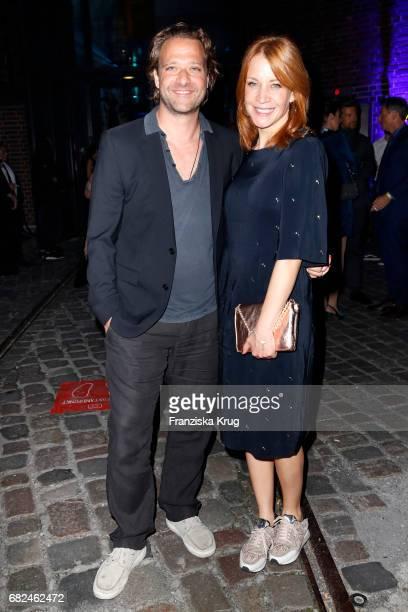 Annika Ernst and her husband Oliver Dressnandt during the GreenTec Awards at ewerk on May 12 2017 in Berlin Germany