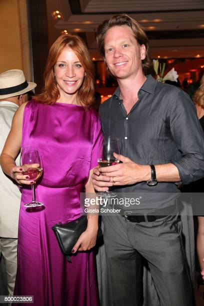 Annika Ernst and Mike Kraus during the opening night party of the Munich Film Festival 2017 at Hotel Bayerischer Hof on June 22 2017 in Munich Germany