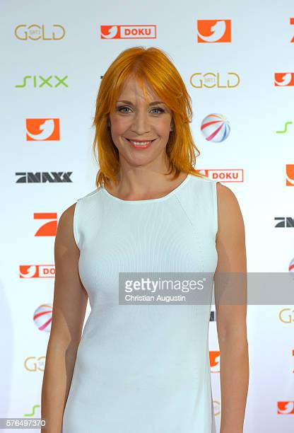 Annika Ernst attends the photo call for the 2016 programme presentation of TV broadcasters ProSiebenSat1 Media at Cinemaxx Dammtor on July 13 2016 in...