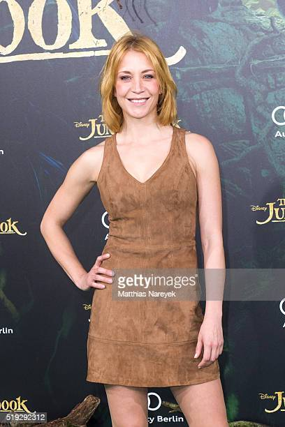 Annika Ernst attends the 'The Jungle book' German Premiere on April 5 2016 in Berlin Germany