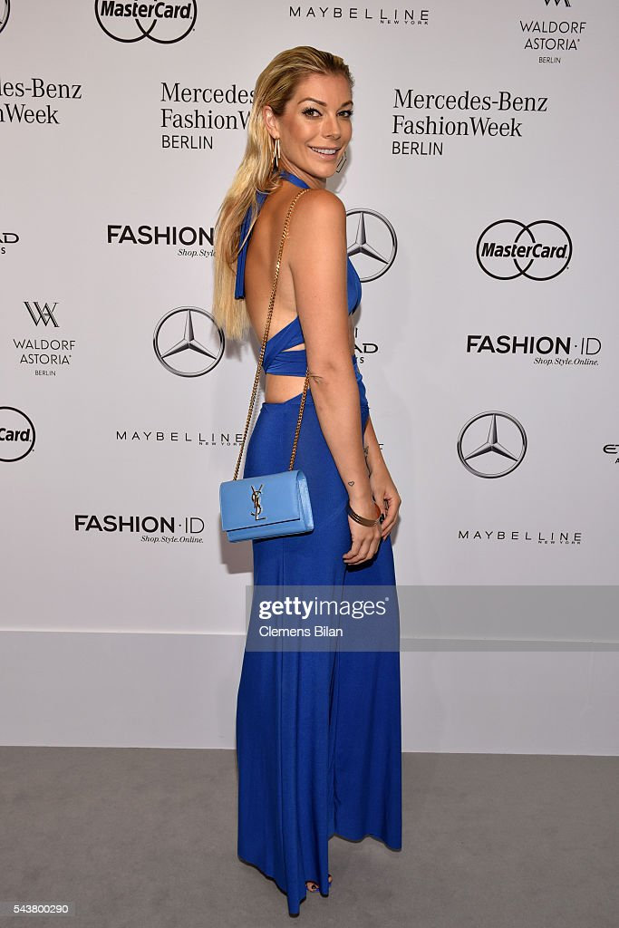 Annika Gassner attends the Dimitri show during the Mercedes-Benz Fashion Week Berlin Spring/Summer 2017 at Erika Hess Eisstadion on June 30, 2016 in Berlin, Germany.