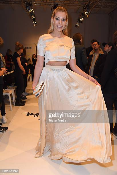 Annika Gassner attends the Marcel Ostertag show during the MercedesBenz Fashion Week Berlin A/W 2017 at Delight Rental Studios on January 18 2017 in...
