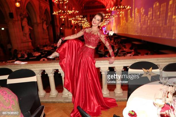 Annika Gassner during the 8th Filmball Vienna at City Hall on March 24 2017 in Vienna Austria