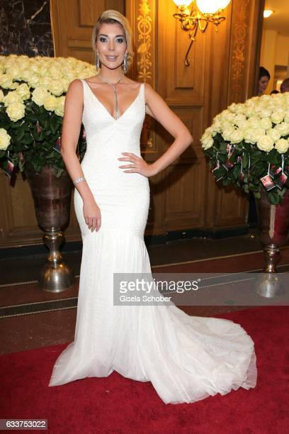 Annika Gassner during the Semper Opera Ball 2017 at Semperoper on February 3 2017 in Dresden Germany