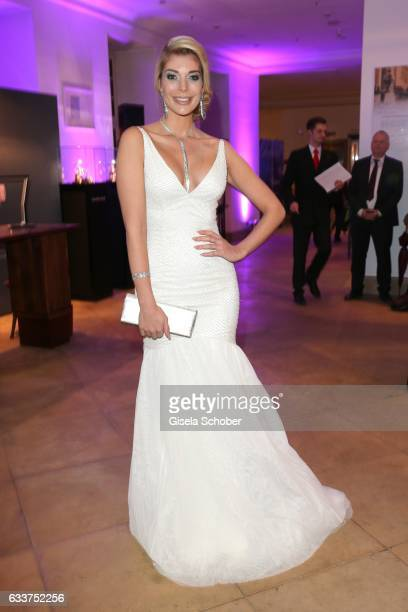 Annika Gassner during the Semper Opera Ball 2017 reception at Hotel Taschenbergpalais Kempinski on February 3 2017 in Dresden Germany