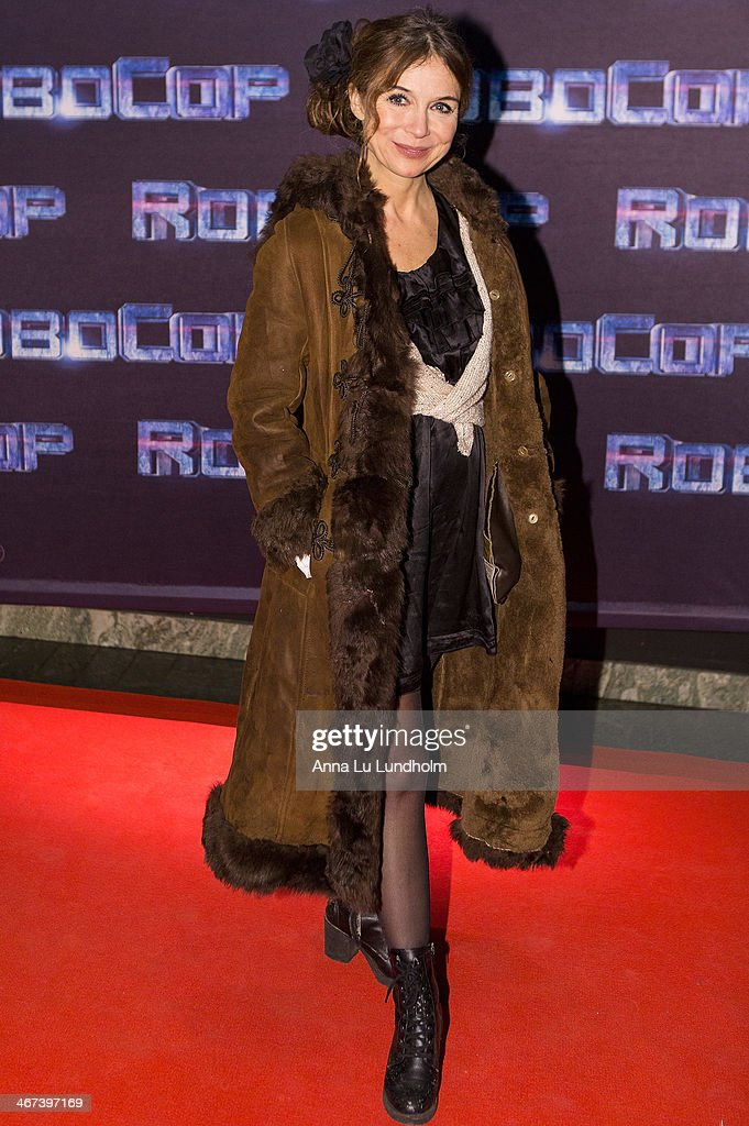 Annika Jankell attends the Stockholm premiere of 'Robocop' at Rigoletto on February 6, 2014 in Stockholm, Sweden.