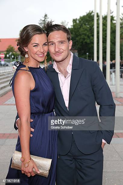 Annika Kipp and Frederick Lau arrive for the German Film Award 2015 Lola at Messe Berlin on June 19 2015 in Berlin Germany