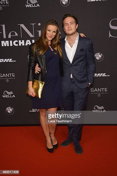 Annika Kipp and Frederick Lau arrive for the Michalsky Style Night during MercedesBenz Fashion Week Autumn/Winter 2014/15 at Tempodrom on January 17...