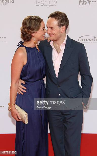 Annika Kipp and Frederic Lau arrive to the German Film Award 2015 Lola at Messe Berlin on June 19 2015 in Berlin Germany