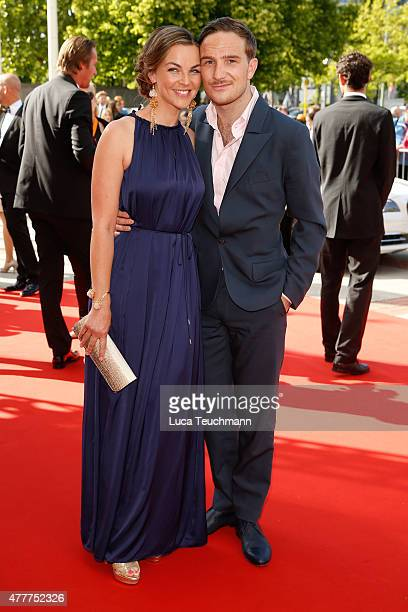 Annika Kipp and Frederic Lau arrives for the German Film Award 2015 Lola at Messe Berlin on June 19 2015 in Berlin Germany