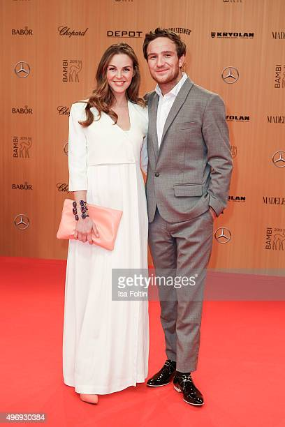 Annika Kipp and Frederic Lau attend the Kryolan At Bambi Awards 2015 Red Carpet Arrivals on November 12 2015 in Berlin Germany