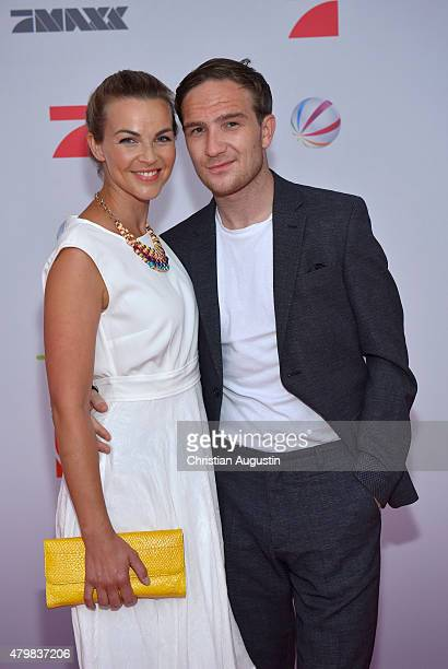 Annika Kipp and Frederick Lau attend the program presentation of the television channel ProSiebenSat1 at Hamburg Cruise Centre Altona on July 7 2015...