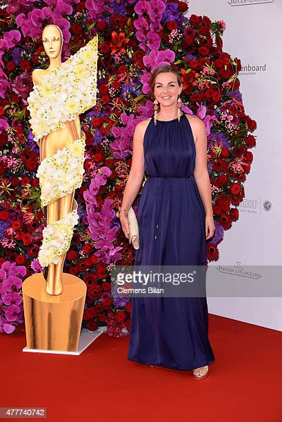 Annika Kipp arrives for the German Film Award 2015 Lola at Messe Berlin on June 19 2015 in Berlin Germany