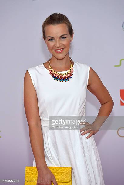 Annika Kipp attends the program presentation of the television channel ProSiebenSat1 at Hamburg Cruise Centre Altona on July 7 2015 in Hamburg Germany