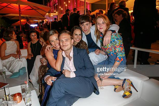 Annika Kipp Frederic Lau Saralisa Volm Kilian Kerner and Jella Haase attend the German Film Award 2015 Lola party at Palais am Funkturm on June 19...
