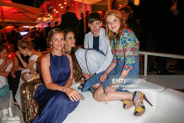 Annika Kipp Saralisa Volm Kilian Kerner and Jella Haase attend the German Film Award 2015 Lola party at Palais am Funkturm on June 19 2015 in Berlin...