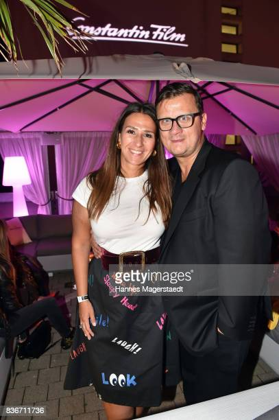Annika Koch and her husband Torsten Koch during the 'Jugend ohne Gott' premiere party at H'Ugo's on August 21 2017 in Munich Germany